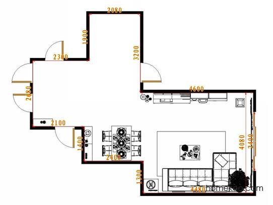 平面布置图乐维斯系列客餐厅G9072