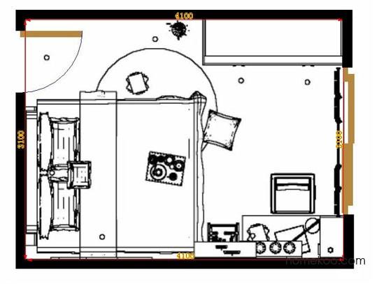 平面布置图德丽卡系列卧房A10286