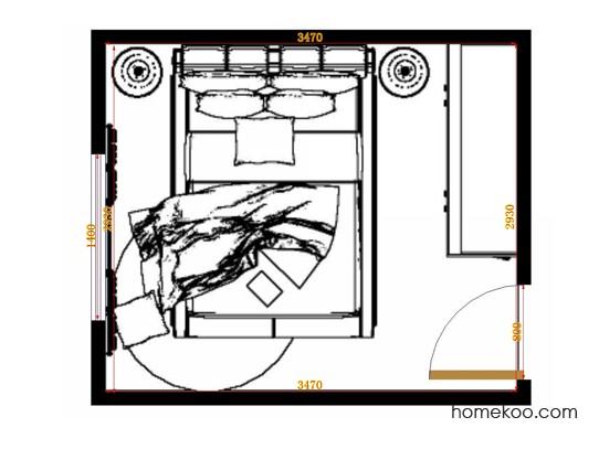 平面布置图贝斯特系列卧房A10416