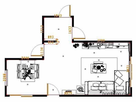 平面布置图乐维斯系列客餐厅G9141