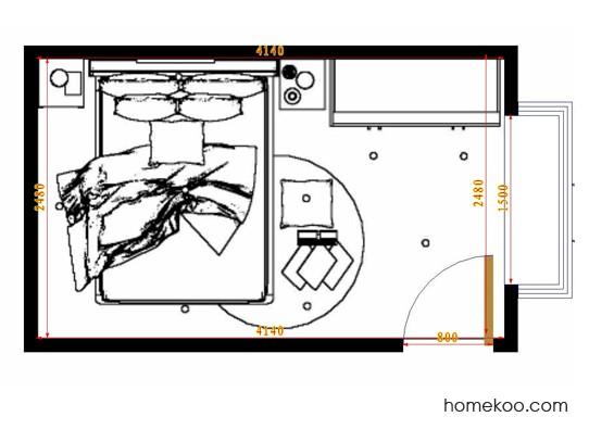 平面布置图德丽卡系列卧房A10426