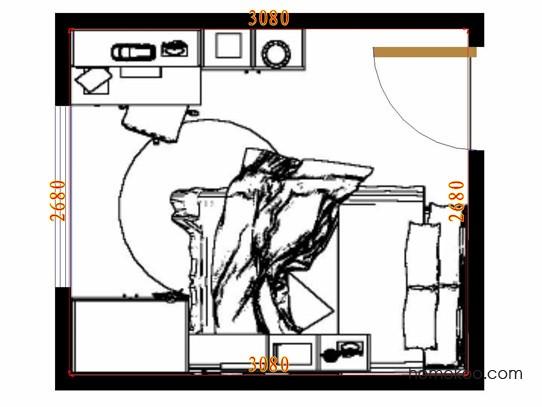 平面布置图乐维斯系列青少年房B10425