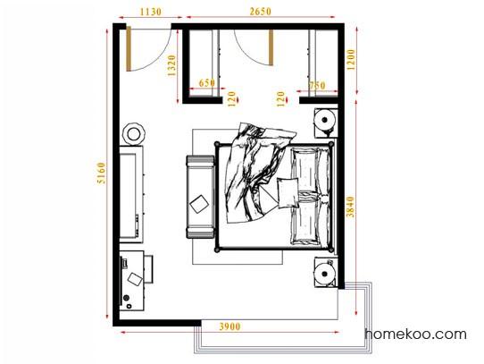 平面布置图格瑞丝系列卧房A10438