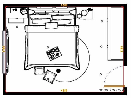 平面布置图柏俪兹系列卧房A10454