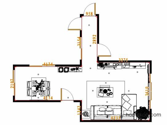 平面布置图格瑞丝系列客餐厅G9159
