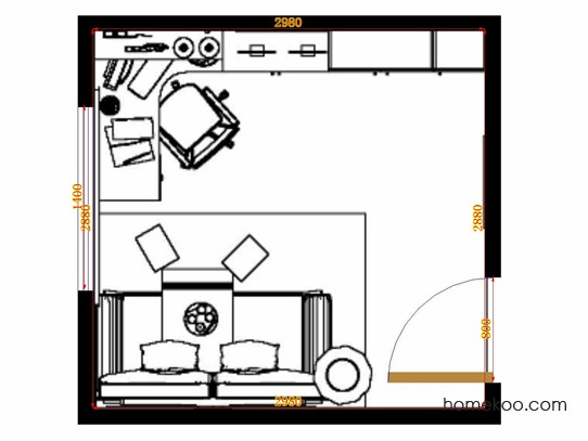 平面布置图斯玛特系列书房C10401