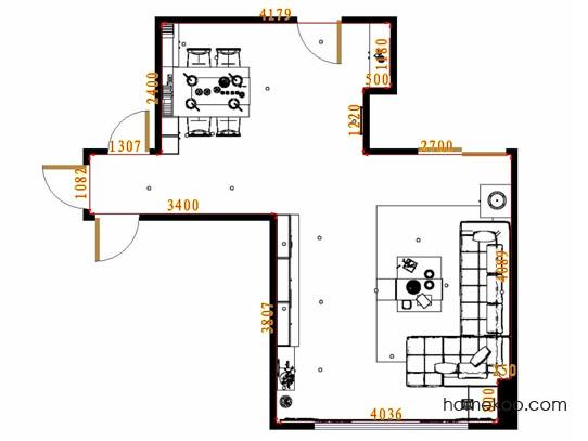 平面布置图柏俪兹系列客餐厅G9172