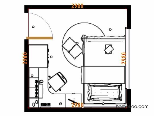 平面布置图格瑞丝系列青少年房B10502