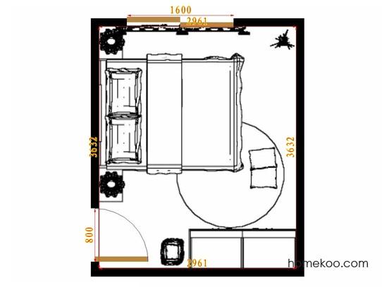 平面布置图斯玛特系列卧房A10550