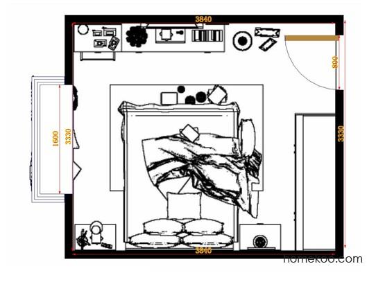 平面布置图德丽卡系列卧房A10585