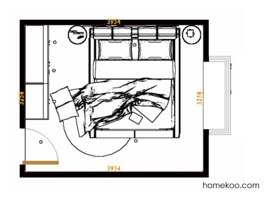 平面布置图贝斯特系列卧房A10590