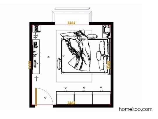 平面布置图柏俪兹系列卧房A10591