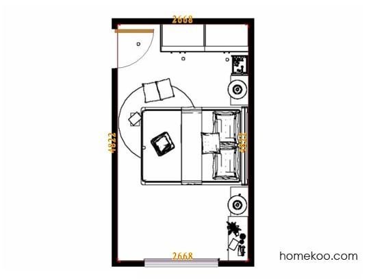 平面布置图德丽卡系列卧房A10592