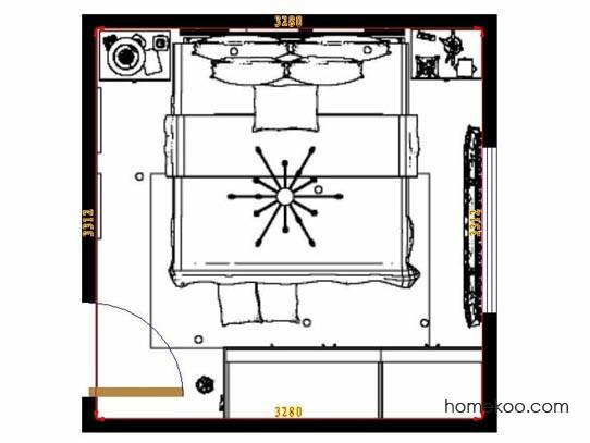 平面布置图柏俪兹系列卧房A10609