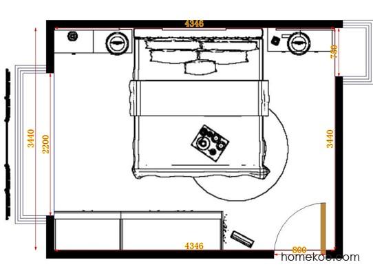 平面布置图乐维斯系列卧房A10629