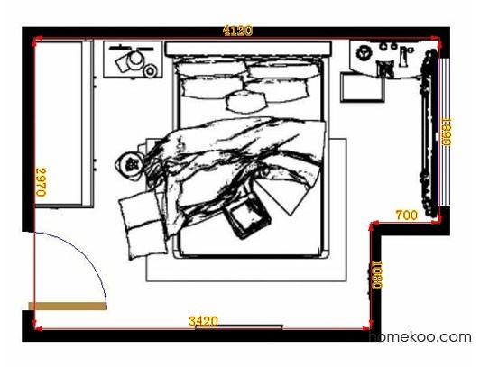 平面布置图德丽卡系列卧房A10645