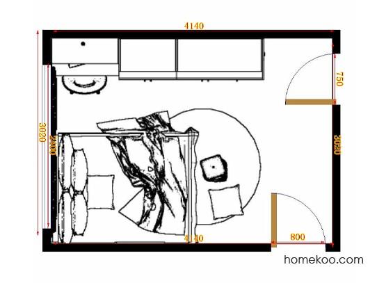 平面布置图格瑞丝系列卧房A10655