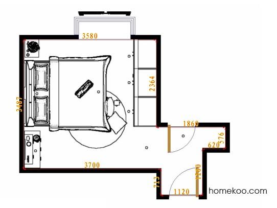 平面布置图乐维斯系列卧房A10658