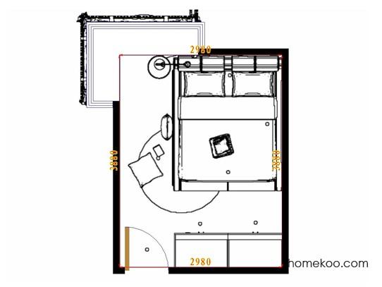 平面布置图斯玛特系列卧房A10659