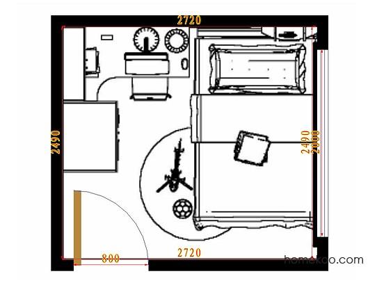 平面布置图乐维斯系列青少年房B10565