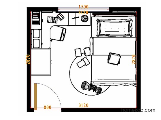 平面布置图斯玛特系列青少年房B10569
