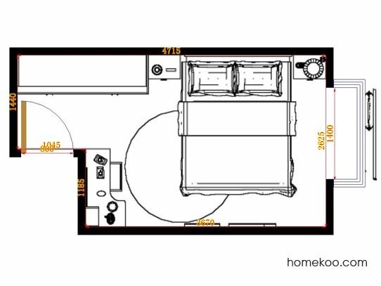 平面布置图德丽卡系列卧房A10676