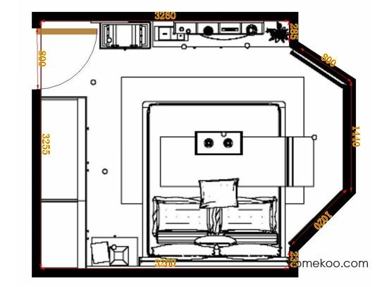 平面布置图格瑞丝系列卧房A10678