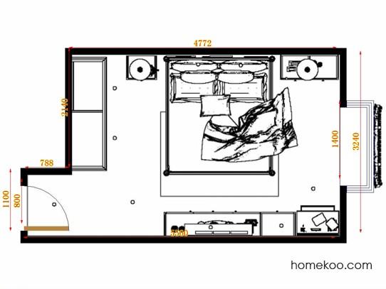 平面布置图格瑞丝系列卧房A10681