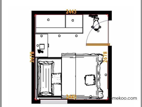 平面布置图柏俪兹系列青少年房B10573