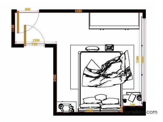 平面布置图斯玛特系列卧房A10690