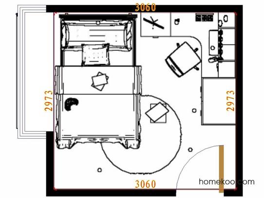 平面布置图贝斯特系列青少年房B10574