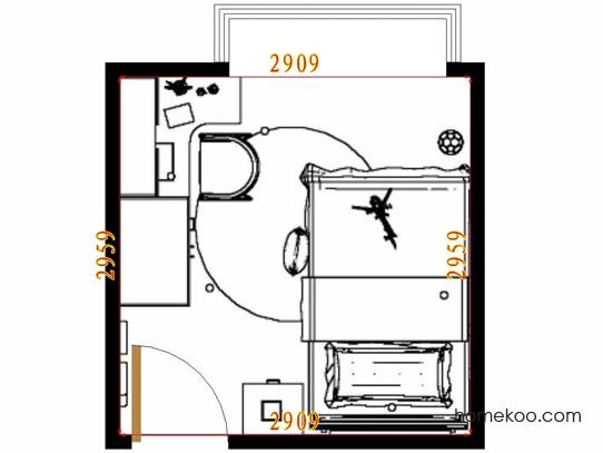 平面布置图格瑞丝系列青少年房B10575
