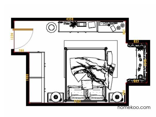 平面布置图格瑞丝系列卧房A10701