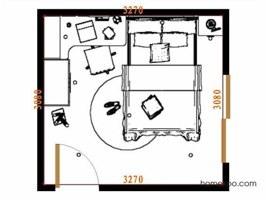 平面布置图斯玛特系列青少年房B10597