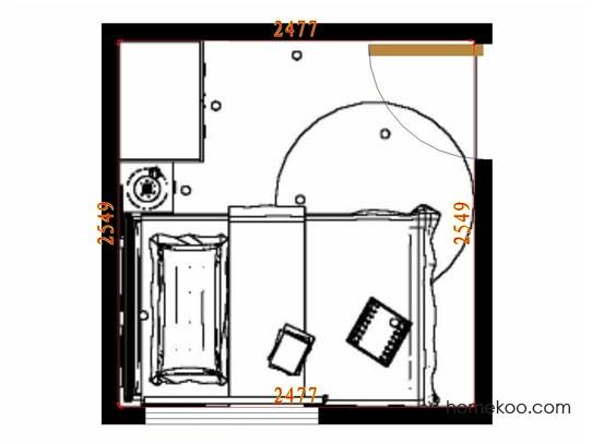 平面布置图贝斯特系列青少年房B10598