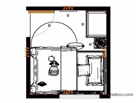 平面布置图格瑞丝系列青少年房B10599