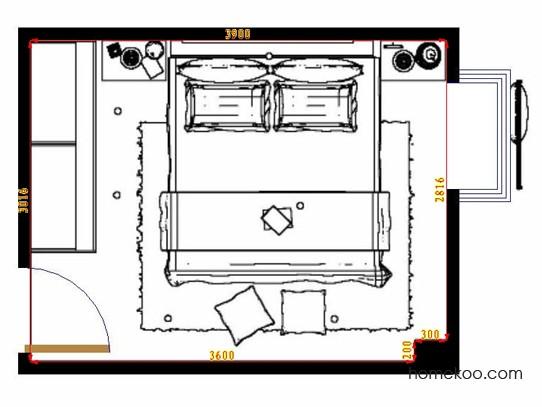 平面布置图乐维斯系列卧房A10710