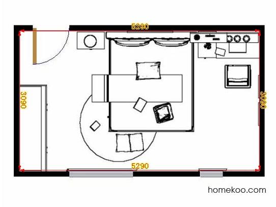平面布置图德丽卡系列卧房A10723