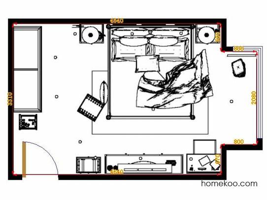 平面布置图斯玛特系列卧房A10725