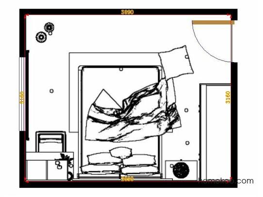 平面布置图斯玛特系列卧房A10726
