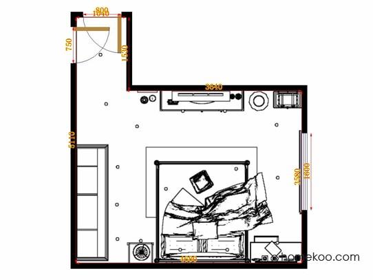 平面布置图柏俪兹系列卧房A10730