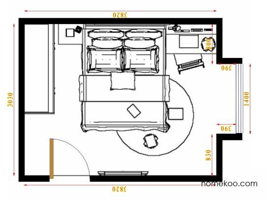 平面布置图德丽卡系列卧房A10739