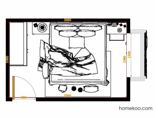 平面布置图柏俪兹系列卧房A10761