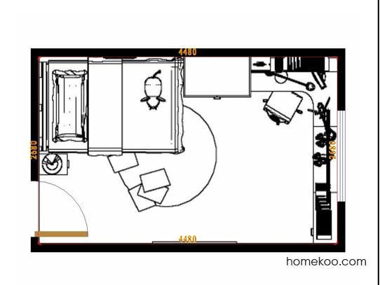 平面布置图柏俪兹系列青少年房B10630