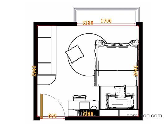平面布置图斯玛特系列青少年房B10632