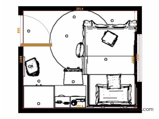 平面布置图贝斯特系列青少年房B10641