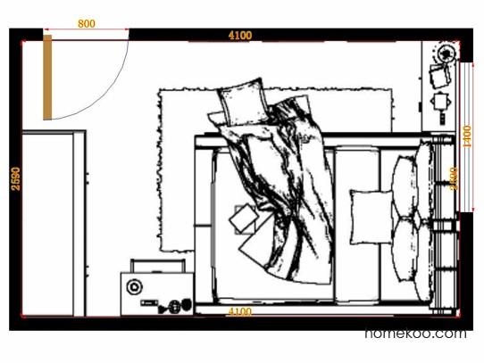 平面布置图柏俪兹系列卧房A10794