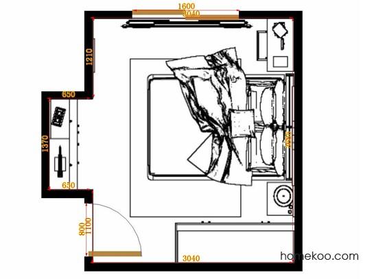 平面布置图德丽卡系列卧房A10813