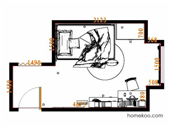 平面布置图贝斯特系列青少年房B10646