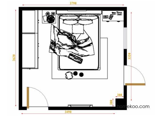 平面布置图格瑞丝系列卧房A10815